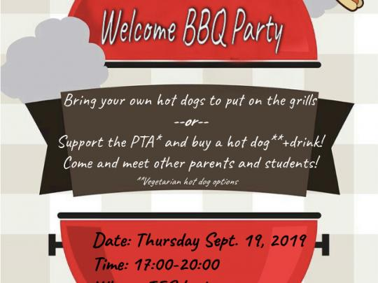 PTA/IESL Welcome BBQ Party